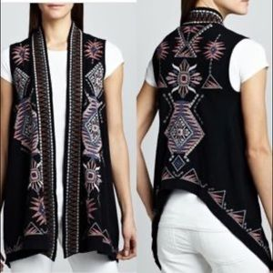 Johnny was joy love light embroidered vest